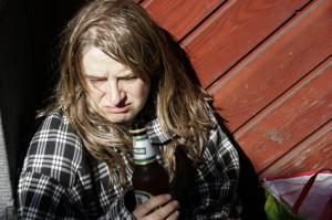 Dagmar Janssen als Obdachlose Silvia Hummel