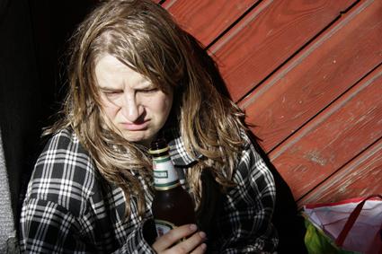 Dagmar Janssen als Obdachlose Sylvia Hummel