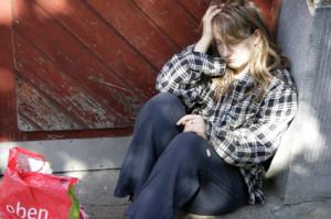 Dagmar Janssen als Obdachlose